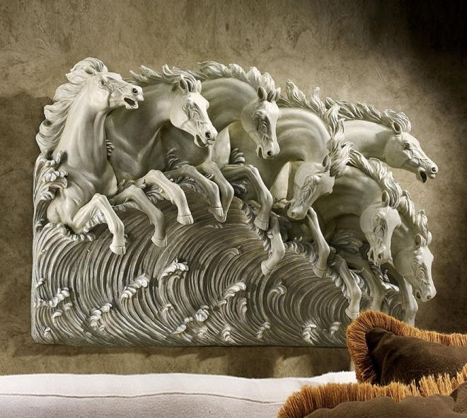 2018 Wall Art Ideas Design Beatuiful Horse Wall Sculptures Art Regarding In Outdoor Wall Sculpture Art (View 4 of 15)