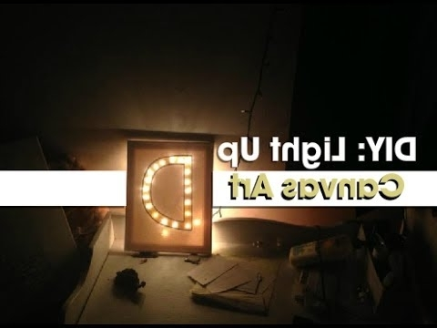 2018 Wall Art With Lights Inside Gift Idea: Diy Light Up Canvas Art – Youtube (View 15 of 15)