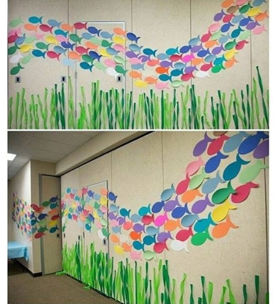 2018 Wall Decoration For Preschool Pictures Of Wall Decoration For School Intended For Preschool Wall Decoration (View 1 of 15)