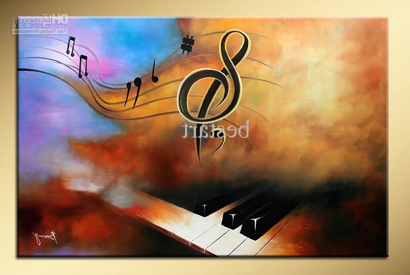 2018 Wholesale Hand Painted Decorative Wall Art Music Piano Abstract Inside Popular Abstract Piano Wall Art (View 5 of 15)
