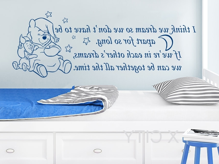 2018 Winnie The Pooh Vinyl Wall Art For Winnie The Pooh Wall Decals Quotes Vinyl Sticker I Think We Dream So (View 6 of 15)