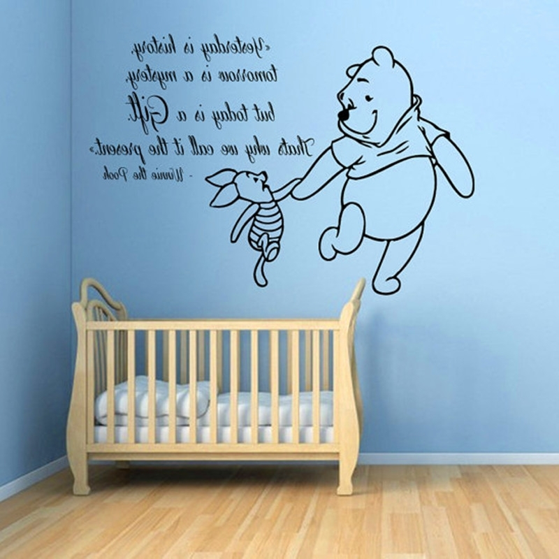 2018 Winnie The Pooh Wall Art With Regard To Winnie The Pooh Wall Decals Piglet Quotes Children Vinyl Decal (View 11 of 15)