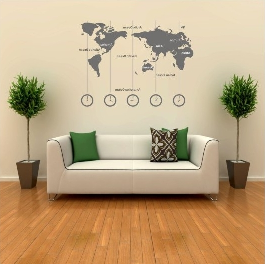 2018 World Wall Art Pertaining To Original Superb World Wall Decal – Home Design And Wall Decoration Ideas (View 3 of 15)