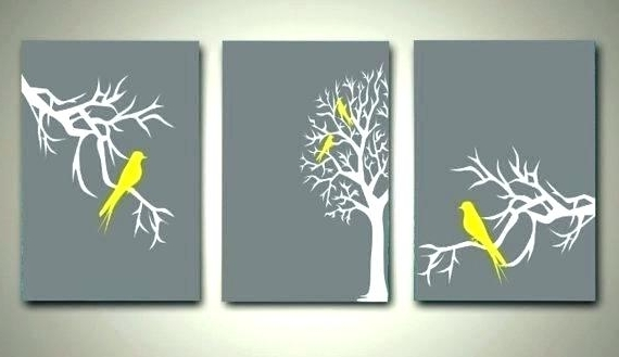 2018 Yellow Grey Wall Art Yellow And Gray Canvas Wall Art Wall Arts Grey Pertaining To Yellow Grey Wall Art (View 2 of 15)