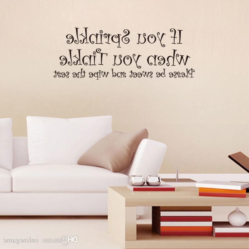 21*57Cm House Rules Lettering Art Words Wall Stickers Living Room Intended For Favorite 3D Wall Art Words (View 14 of 15)