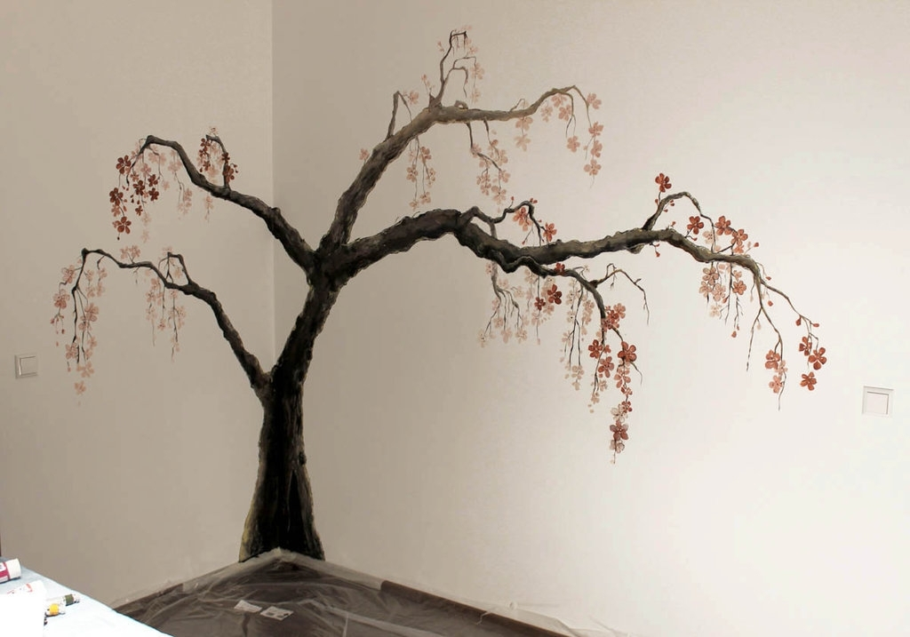 24 Best Wall Painting Weneedfun, Painted Trees On Walls For Famous Painted Trees Wall Art (View 3 of 15)