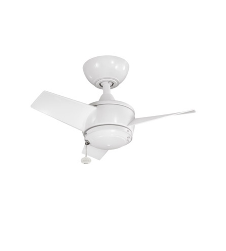 24 Inch Outdoor Ceiling Fans With Light With 2018 Kichler Yur Fan In White 310124Wh (View 3 of 15)