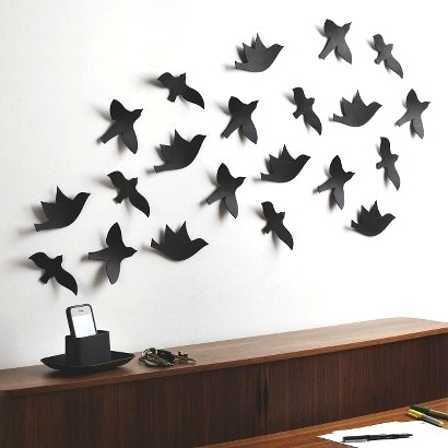 3 D Bird Wall Decor 3 D Target Decals Recent Mesmerizing Pictures Pertaining To Most Up To Date Target Bird Wall Decor (View 2 of 15)