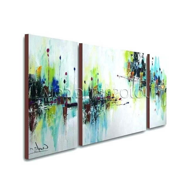 3 Piece Abstract Wall Art 3 Piece Abstract Canvas Art Red Gold With Famous 3 Piece Abstract Wall Art (View 12 of 15)