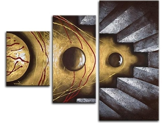 3 Piece Abstract Wall Art Inside Current 3 Piece Wall Art – Affordable Canvas Art Sets – Free Shipping (View 5 of 15)