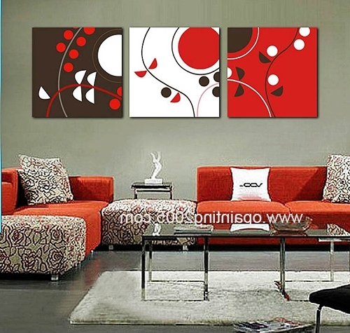 3 Piece Abstract Wall Art Regarding Well Known Hot In World Mural Home Craft Hand Decorative Paintings 3 Piece (View 11 of 15)