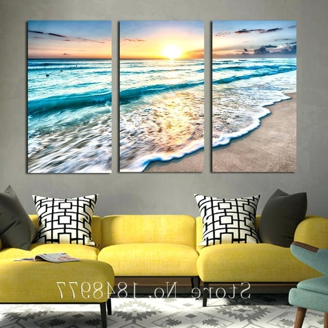 3 Piece Beach Wall Art Inside Current 3 Piece Beach Wall Art Awesome Design Beach Wall Art Canvas 3 Panels (View 12 of 15)