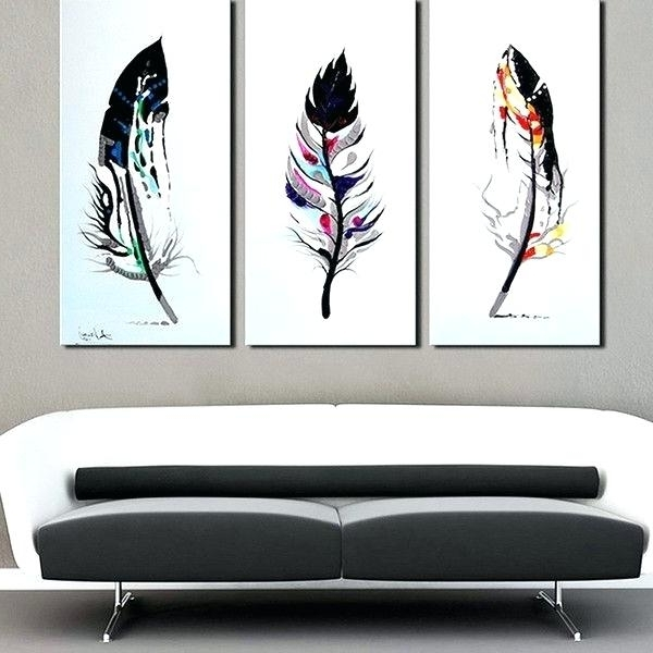 3 Piece Canvas Wall Art Painting 3 Pieces Canvas Wall Art 3 Panel With Well Known Canvas Wall Art Sets Of  (View 2 of 15)