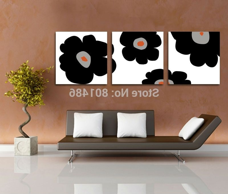 3 Piece Floral Canvas Wall Art Within Newest Direct Factory Price ! Large Size 3 Pieces Canvas Wall Art Modern (View 14 of 15)