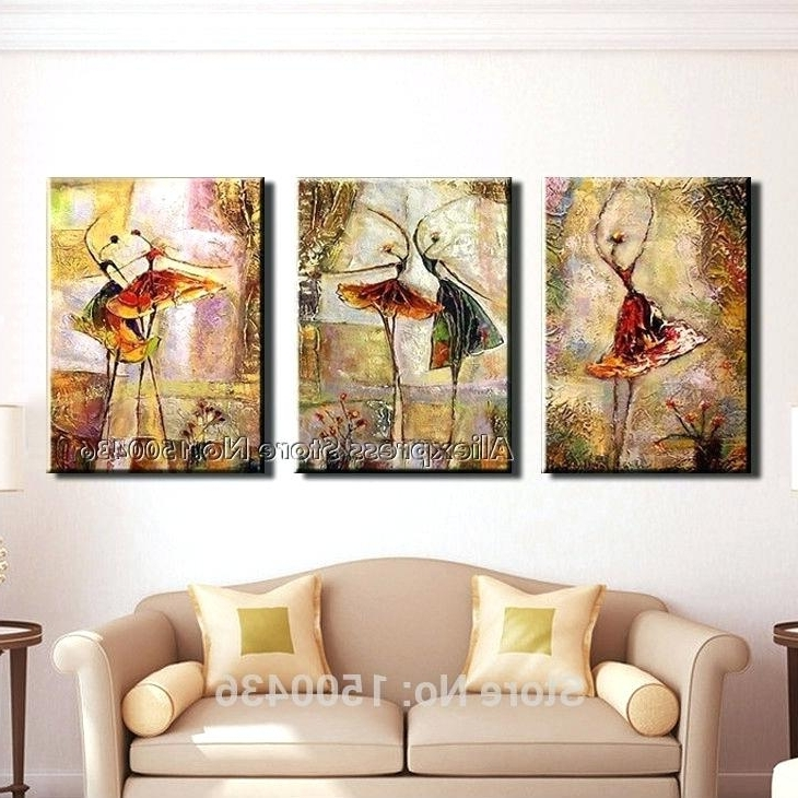3 Piece Wall Art Sets Inside Famous 3 Piece Wall Art Wake Up 3 Piece Gallery Wrapped Canvas Art Set A (View 11 of 15)