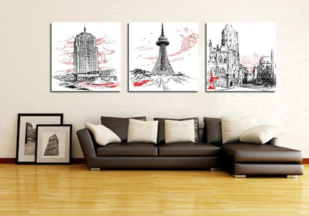 3 Piece Wall Decor Set Elegant Wall Art Designs Perfect Designing 3 With Current 3 Piece Modern Wall Art (View 4 of 15)