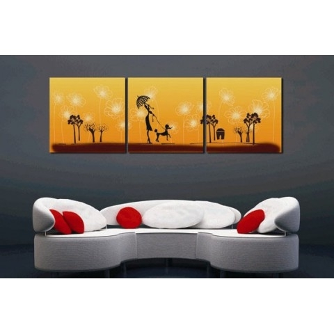3 Set Canvas Wall Art inside Famous Printed Canvas Art With Stretched Frame - Set Of 3 - Wall Art Ideas
