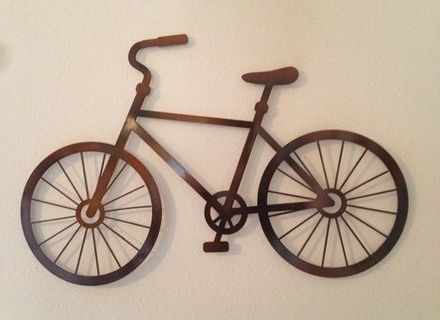 35 Bike Wall Art, Metal Bicycle Wall Decor Antique Metal High Wheel within Well known Bicycle Wall Art Decor