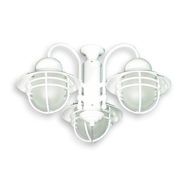 362 Nautical Styled Outdoor Ceiling Fan Light Kit - 3 Finish Choices inside Most Recent Nautical Outdoor Ceiling Fans