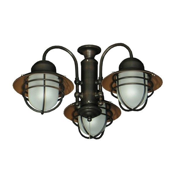 362 Nautical Styled Outdoor Ceiling Fan Light Kit – 3 Finish Choices Throughout Popular Outdoor Ceiling Fans With Light Kit (View 2 of 15)