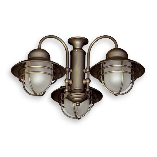 362 Nautical Styled Outdoor Ceiling Fan Light Kit – 3 Finish Choices Within Popular Nautical Outdoor Ceiling Fans With Lights (View 12 of 15)