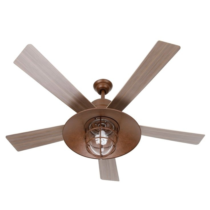 37 Rustic Outdoor Ceiling Fans, Rustic Ceiling Fans With Lights Inside Newest Copper Outdoor Ceiling Fans (View 12 of 15)
