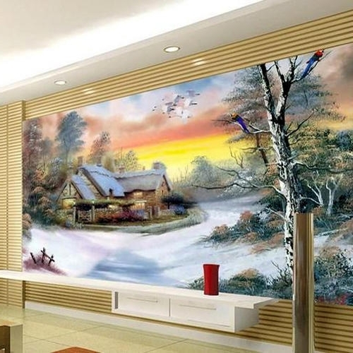 3D Artwork On Wall inside Most Recent 3D Wall Painting Service In Thane, Bhiwandi
