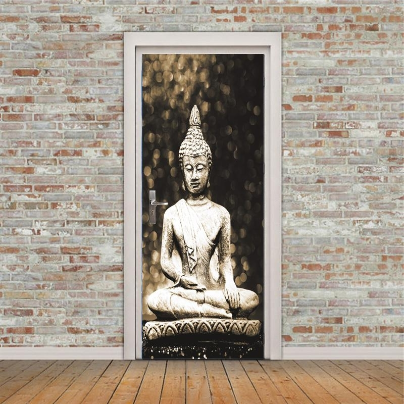 3D Buddha Statue Wall Stickers Diy Mural Bedroom Home Decor Poster With Most Recent 3D Buddha Wall Art (View 2 of 15)