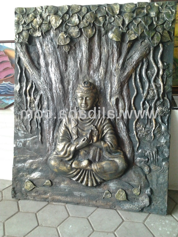 3D Buddha Wall Art within Current Buddha Emboss Wall Mural - Buy 3D Wall Mural Product On Alibaba