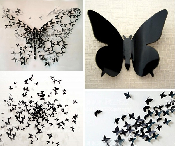 3D Butterfly Wall Art Intended For 2018 Beautiful 3D Butterfly Wall Decor – Globallybuying (View 10 of 15)