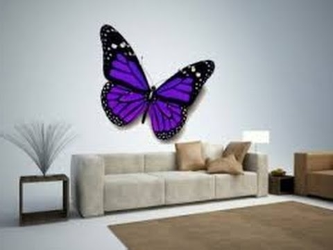 3D Butterfly Wall Art Within Well Liked Butterfly Wall Decor (View 7 of 15)