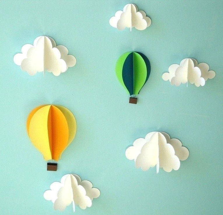 3D Clouds Out Of Paper Wall Art Inside Most Current 3D Clouds Out Of Paper Wall Art – Dannyjbixby (View 4 of 15)