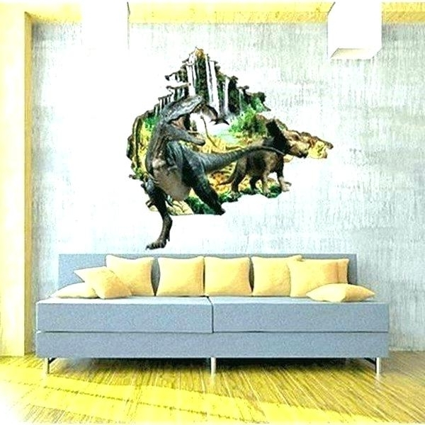 3D Dinosaur Wall Art Decor within Most Recently Released Dinosaur Wall Decor Dinosaur Decals For Walls Wall Art Stickers Wall