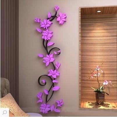 3D Flower Wall Art inside Trendy Cm Single Piece Package D Exquisite Flowers Wall Sticker Waterproof