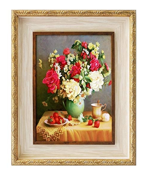 3D Garden Wall Art Inside Newest Amazon: Framed Oil Paintings 3D Flowers For Wall Decoration Art (View 2 of 15)