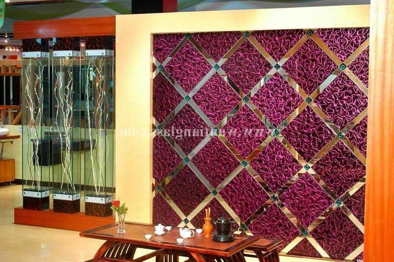 3D Glass Wall Art intended for Most Recent Wantian 3D Art Glass For Background Wall - Wantian 3D Glass (China