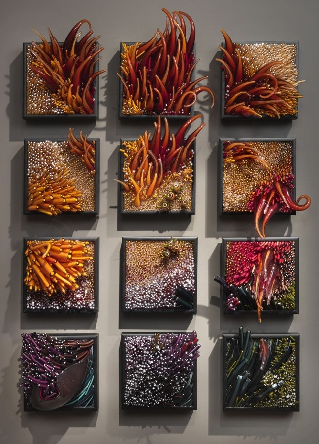 3D Glass Wall Art within Famous Stunning 3D Glass Sculptures Inspiredwind And Water