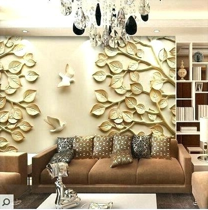 3D Modern Wall Art Within Trendy 3D Modern Wall Art Modern Wall Art Modern Wall Art Decor Blue Wall (View 4 of 15)