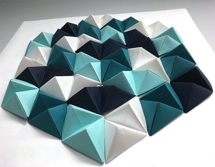 3D Paper Wall Art within Most Up-to-Date Triangle // Geometric Paper Wall Art