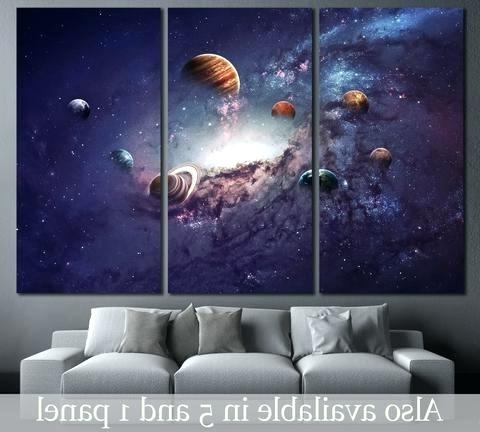 3D Solar System Wall Art Decor With Regard To 2018 Solar System Wall Art – Dannyjbixby (View 5 of 15)