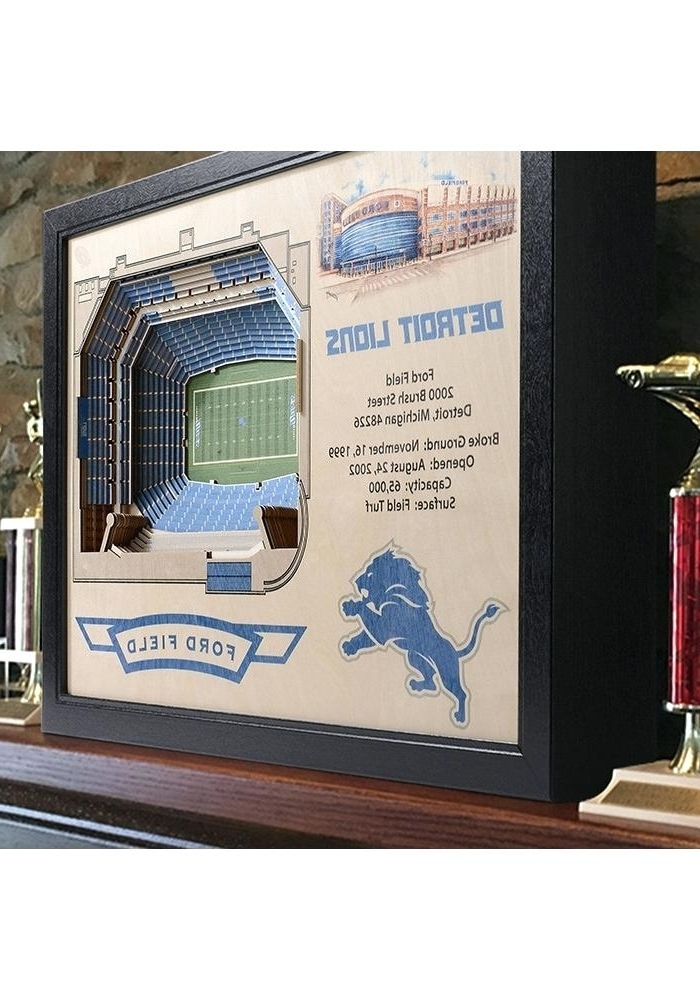 3D Stadium View Wall Art Regarding Well Known Detroit Lions Wall Art Lions Stadium View Wall Art Detroit Lions 3D (View 10 of 15)