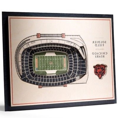 3D Stadium View Wall Art With Most Up To Date Chicago Bears Soldier Field 5 Layer 3D Stadium View Wall Art New (View 9 of 15)
