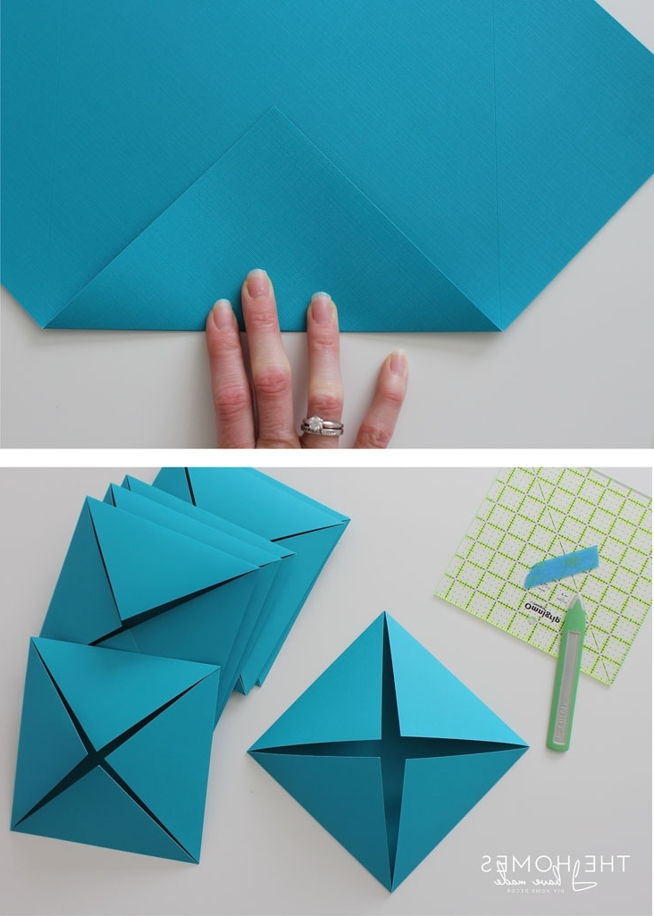 3D Triangle Wall Art Inside Widely Used Renter Friendly 3D Paper Wall Art (View 3 of 15)