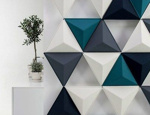 3D Triangle Wall Art Pertaining To Latest 3D Wall Art Catalogue – Revodesign Studios (View 4 of 15)