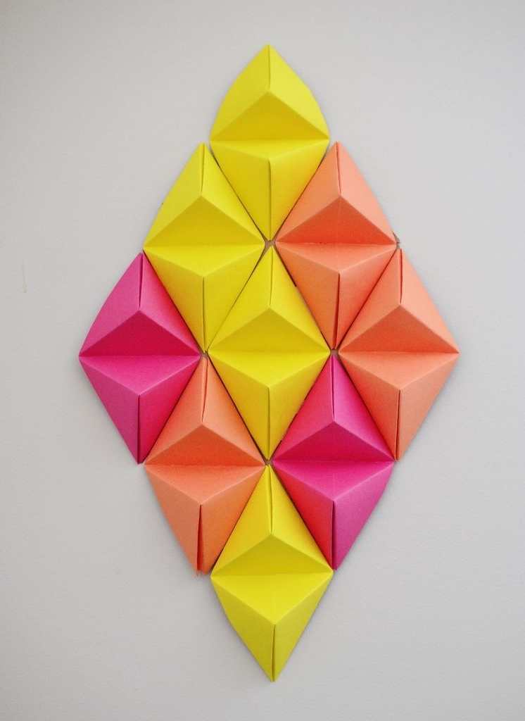 3D Triangle Wall Art with Widely used Wall Art 3D (With Pictures)
