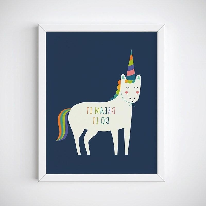 3D Unicorn Wall Art Throughout Current Skillful Unicorn Wall Art Home Remodel Ideas It Do Dream Stickers Uk (View 13 of 15)