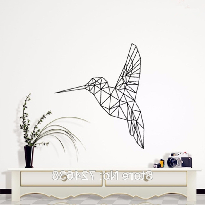 3D Visual Wall Art throughout Best and Newest 5. Birds Geometric Decorative Wall Art Geometric Animals Kingfisher