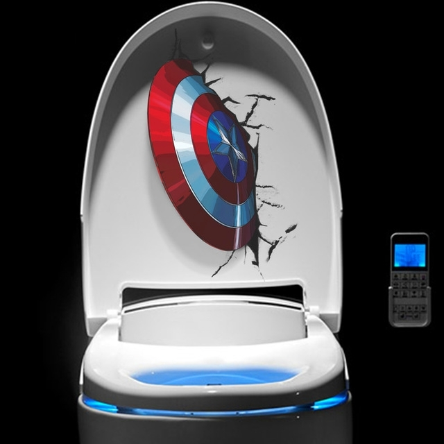 3D Vivid Captain America's Shield Through Wall Stickers Kids Rooms Throughout Most Recent Captain America 3D Wall Art (View 1 of 15)