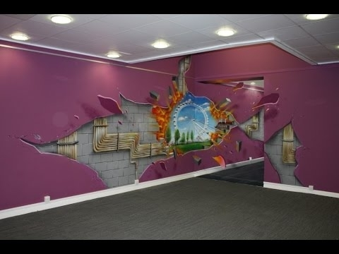 3D Wall Art - 3D Wall Art For Living Room - Youtube with regard to Best and Newest 3D Artwork On Wall