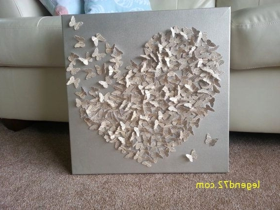 3D Wall Art Canvas With 2017 Top Result Diy 3D Canvas Wall Art Awesome 3D Butterfly Canvas Art (View 4 of 15)